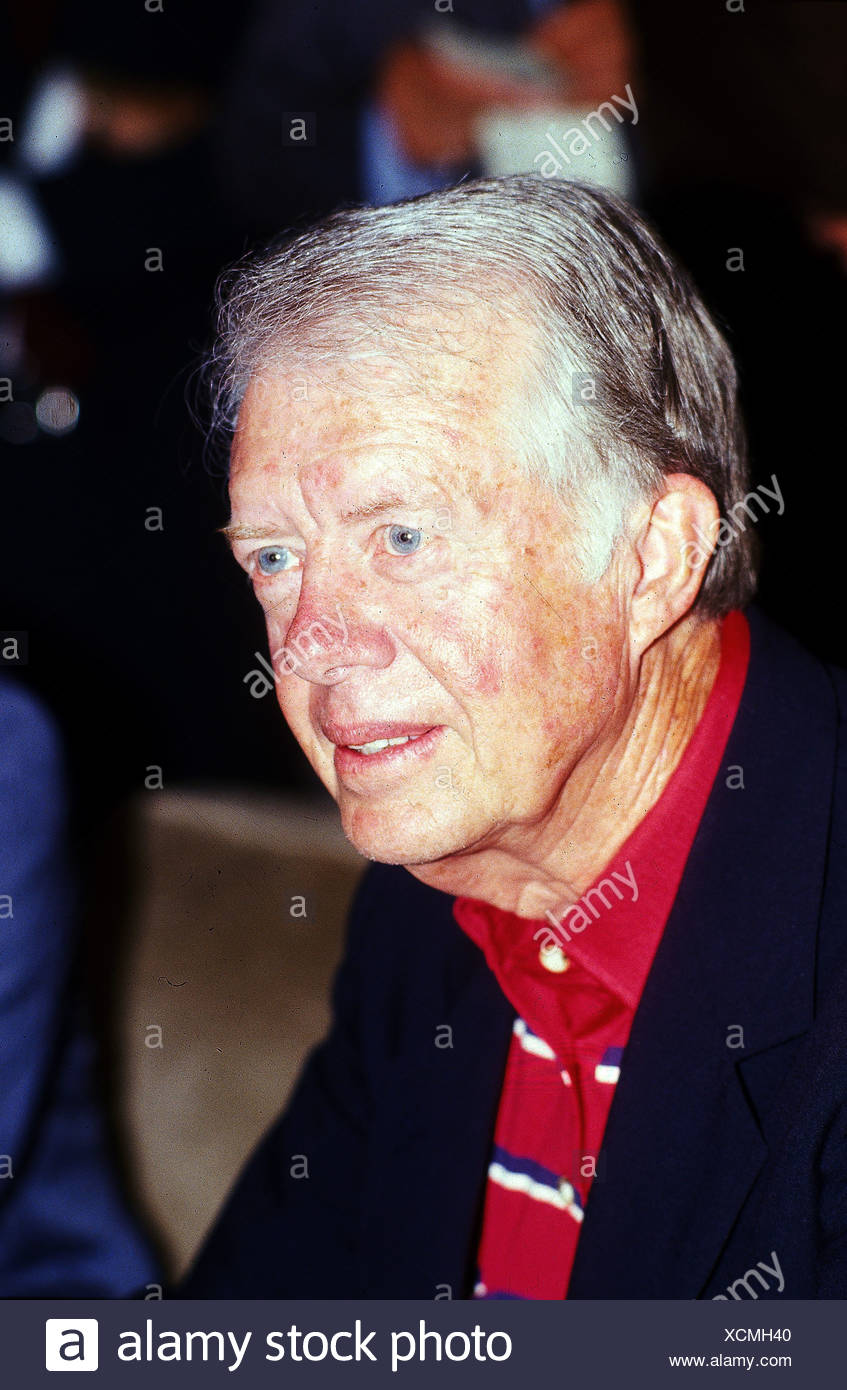 Carter, James 'Jimmy' * 1.10.1924, American politician (Dem.), portrait, Munich, 24.6.1986, , Additional-Rights-Clearances-NA - Stock Image