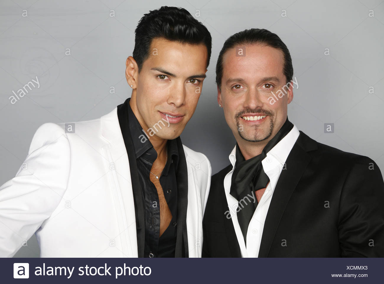 Alex Swings Oscar sings, German music band, member: Alex Christensen und Oscar Loya,  portrait, with the title 'Miss Kiss Kiss Bang', photo call, Hamburg, 2009, Additional-Rights-Clearances-NA - Stock Image