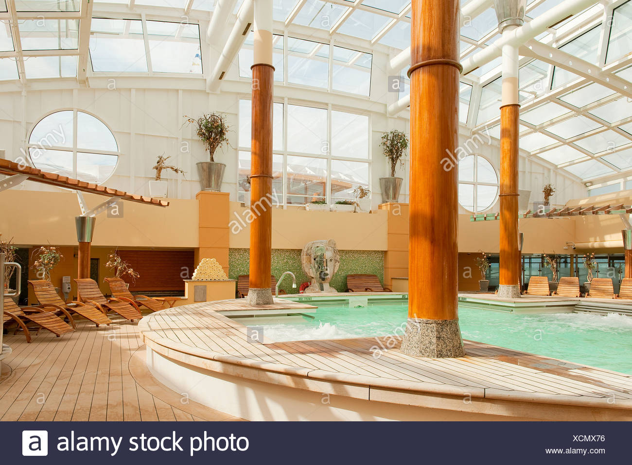 Aqua therapy pool on a cruise ship. - Stock Image