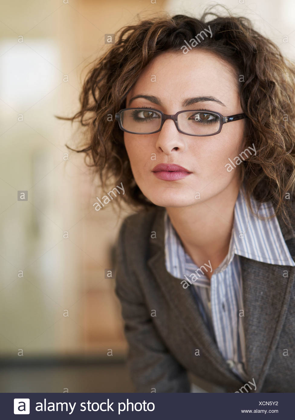 Portrait of casual business woman - Stock Image