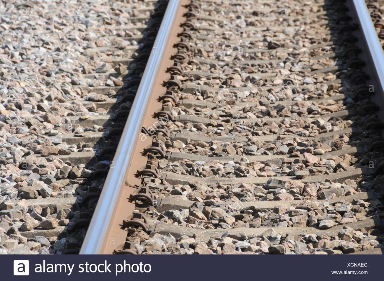 Railroad, rails, iron, rails, railroad, grits, road metals, direction, just, concepts, - Stock Image