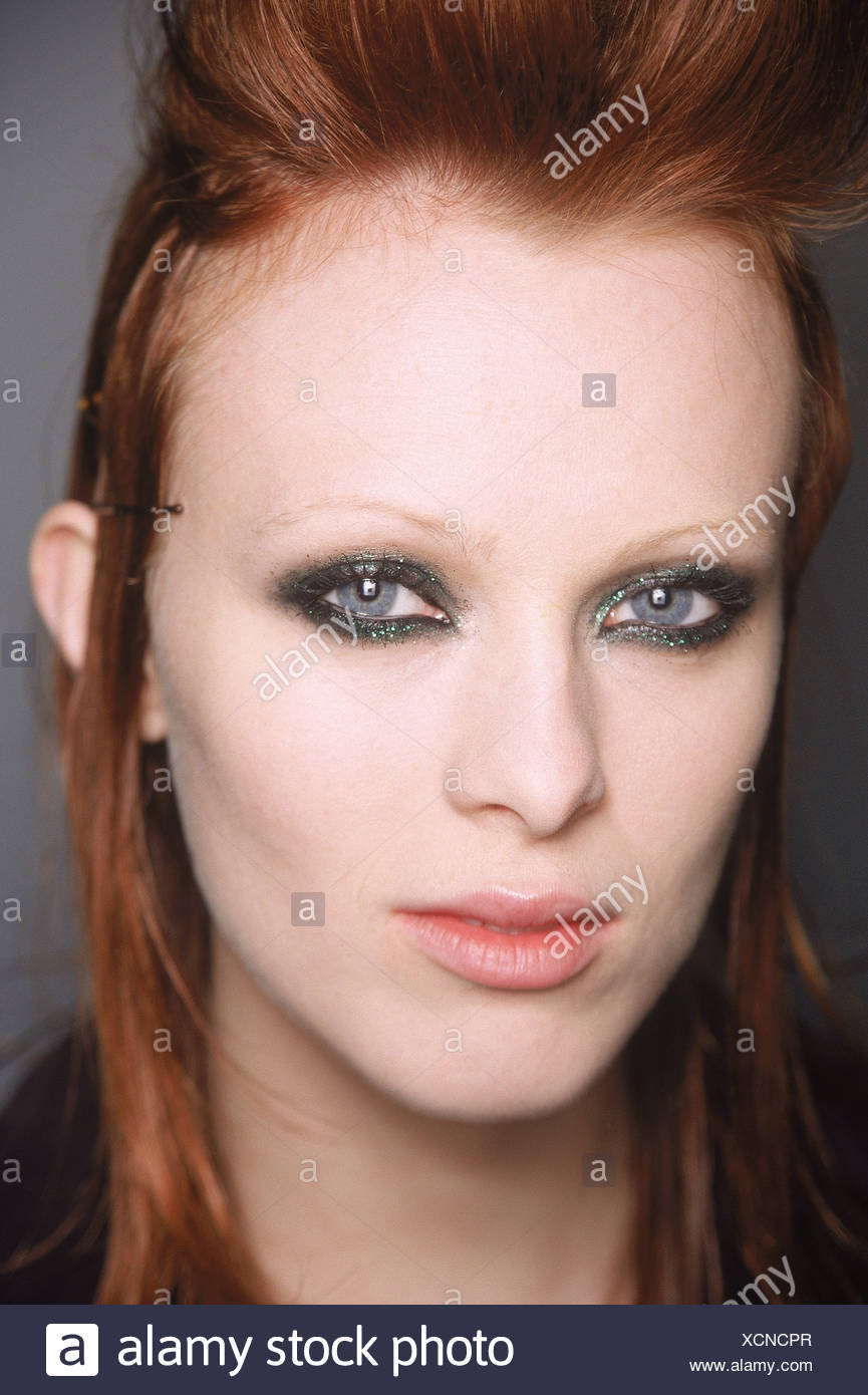 Jean Paul Gaultier Backstage Paris Ready to Wear Autumn Winter The heroin chic look on British - Stock Image