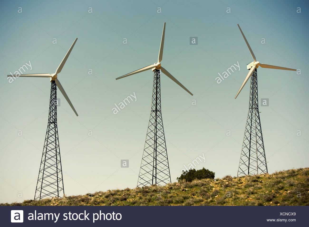 Wind turbines generating electricity - Stock Image