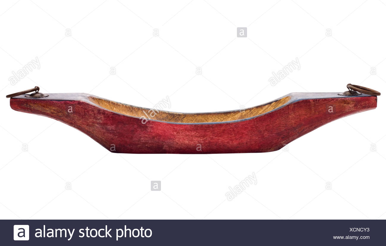 Close-up of a boat shaped showpiece Stock Photo