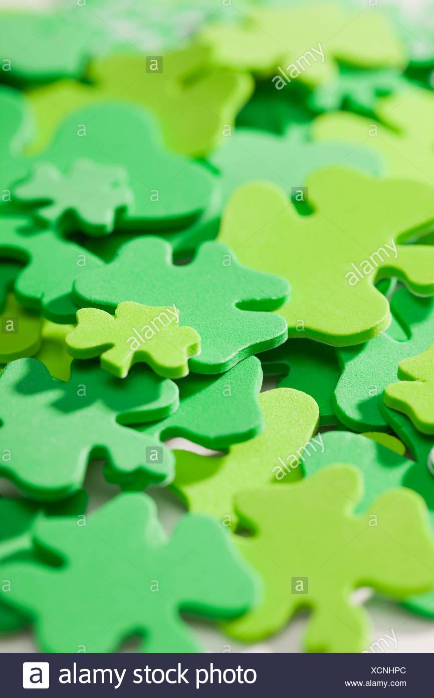 Green shamrocks - Stock Image