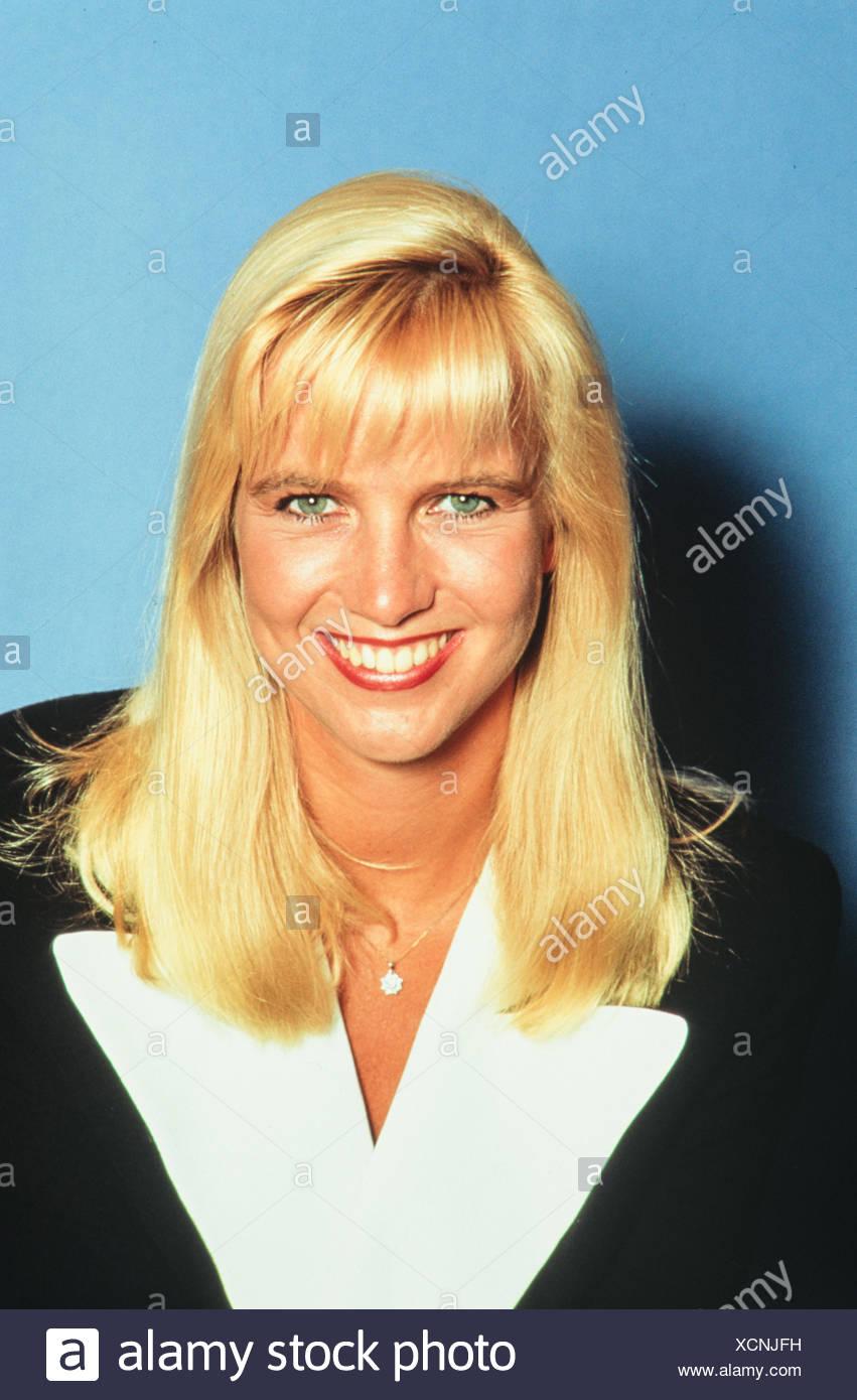 Mol, Linda de, * 8.7.1964, German / Dutch presenter, portrait, 1990s, Additional-Rights-Clearances-NA - Stock Image