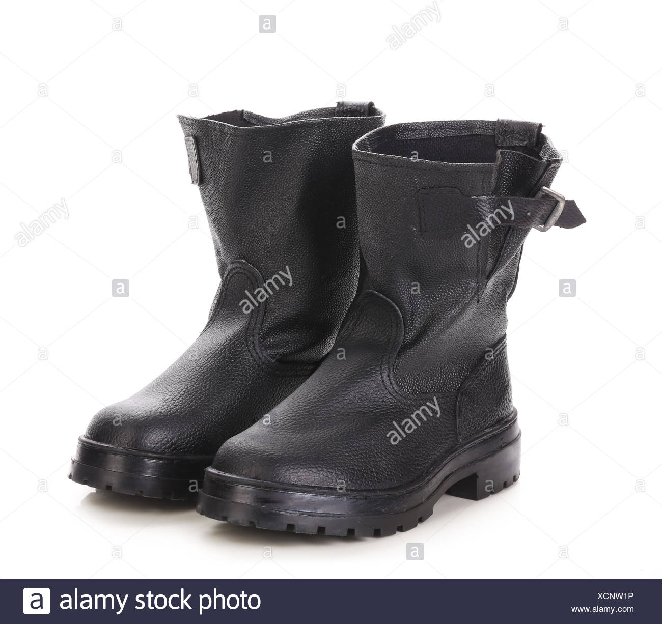 362fbadc4e4d Black kersey pair of boots close up Stock Photo  283222402 - Alamy