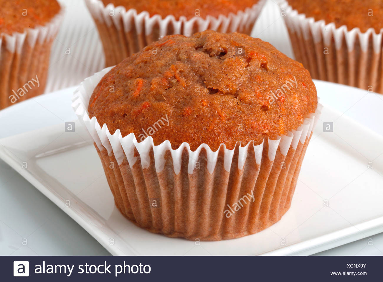 CARROT CAKE MUFFIN - Stock Image