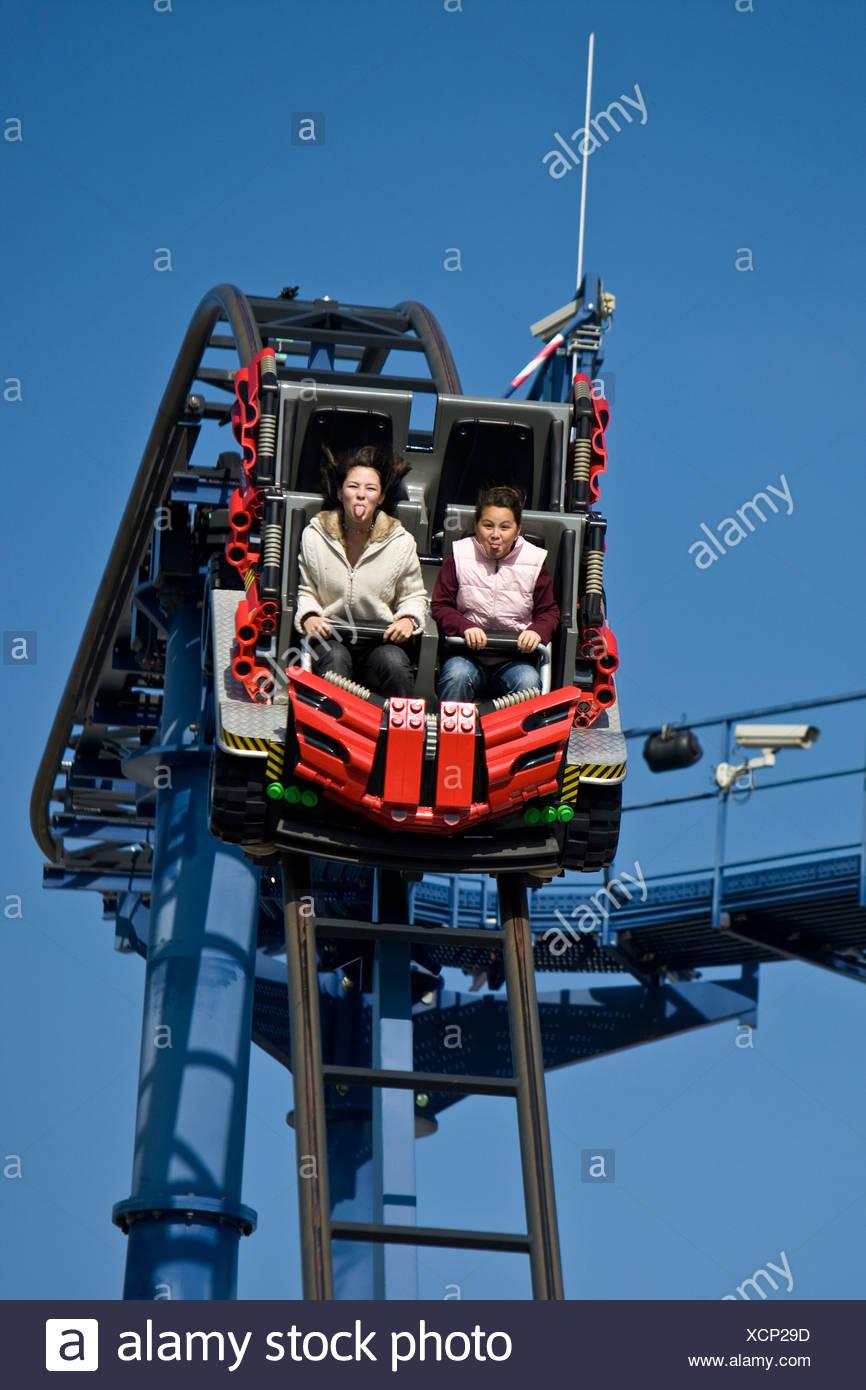 Rollercoaster, Legoland, Guenzburg, Bavaria, Germany Stock Photo