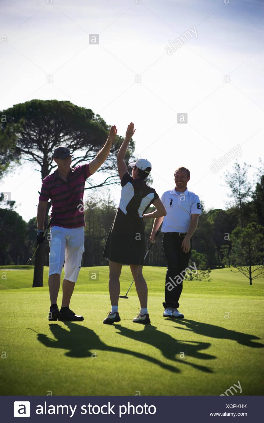 Scandinavians playing golf, Turkey. - Stock Image