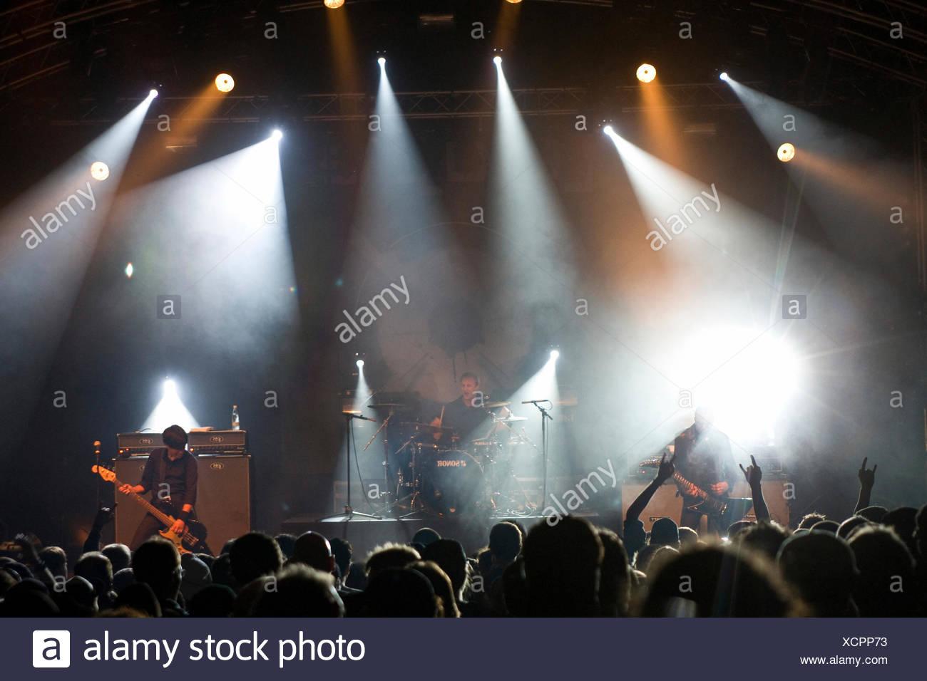 Danko Jones, member of the same-named Canadian garage-blues-rock band Danko Jones, live at the Heitere Open Air in Zofingen - Stock Image