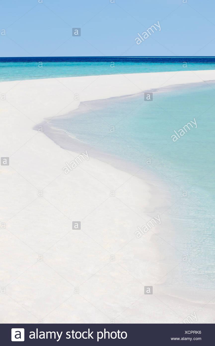 Beautiful Deserted Tropical Beach - Stock Image