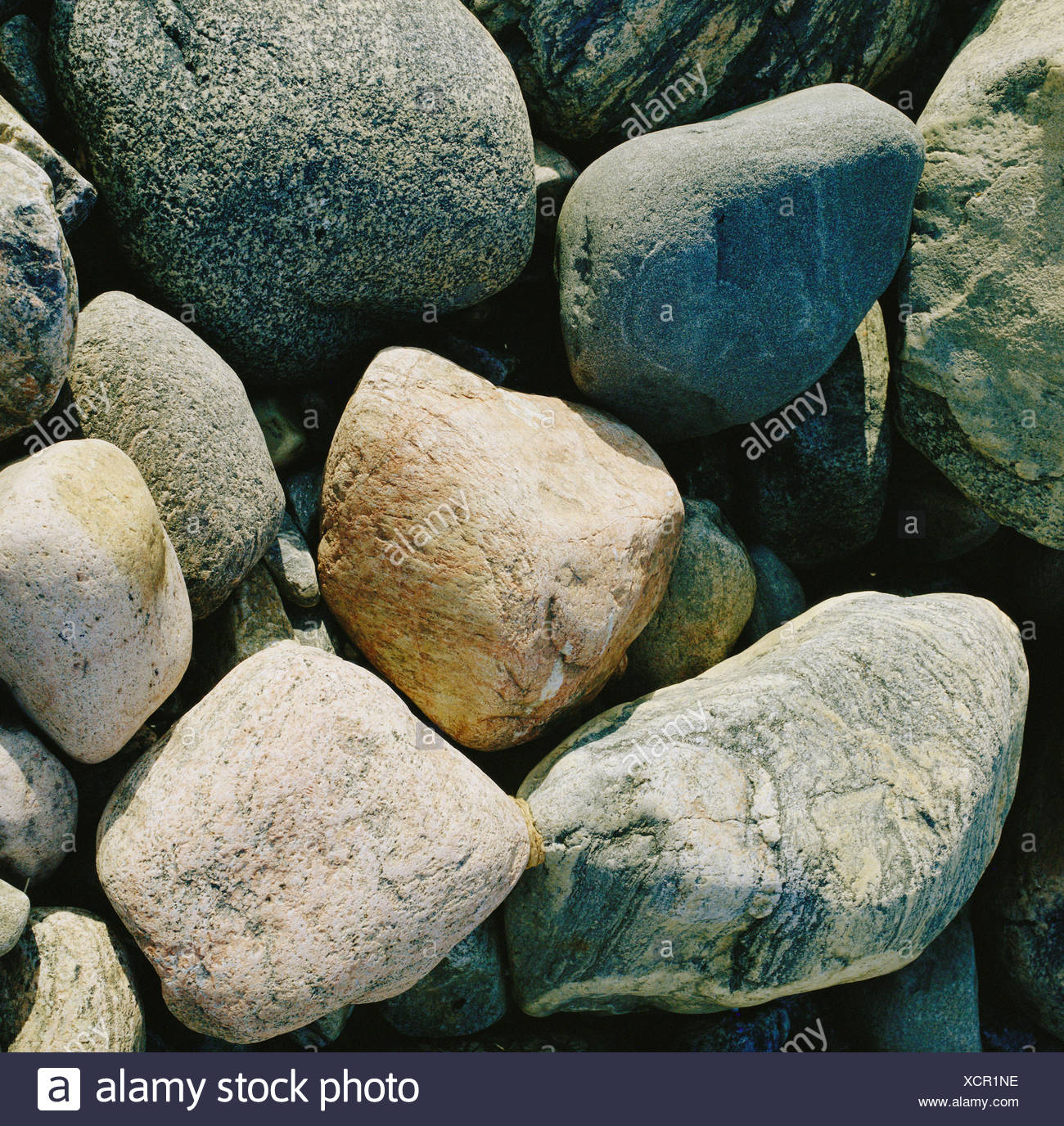 earth stone stones polished concept - Stock Image