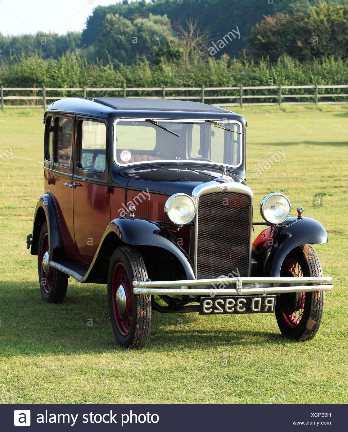 Hillman Minx, 1932 vintage motor car, England UK British classic cars motor motors automobile automobiles - Stock Image