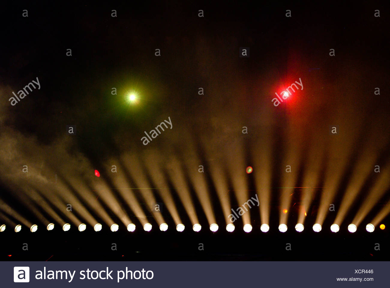 Stage lights at a theater - Stock Image