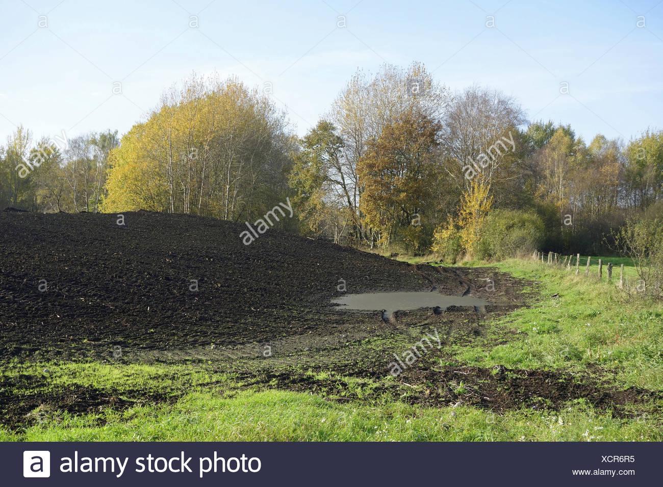 peat extraction Stock Photo