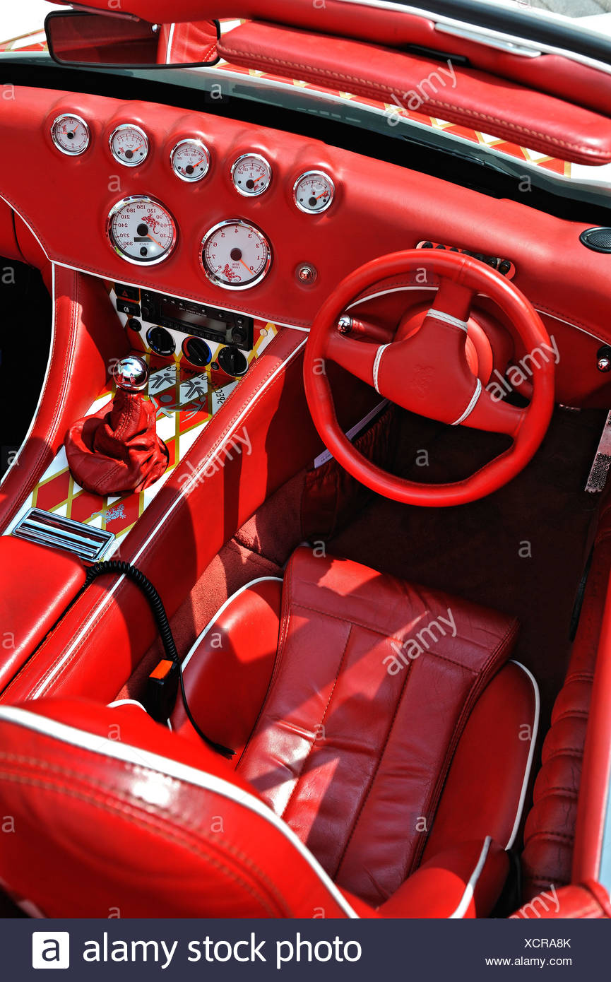 interior red car stock photos interior red car stock images alamy. Black Bedroom Furniture Sets. Home Design Ideas