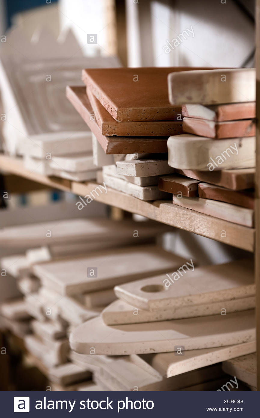 Wooden pottery tools, Bavaria, Germany, Europe - Stock Image