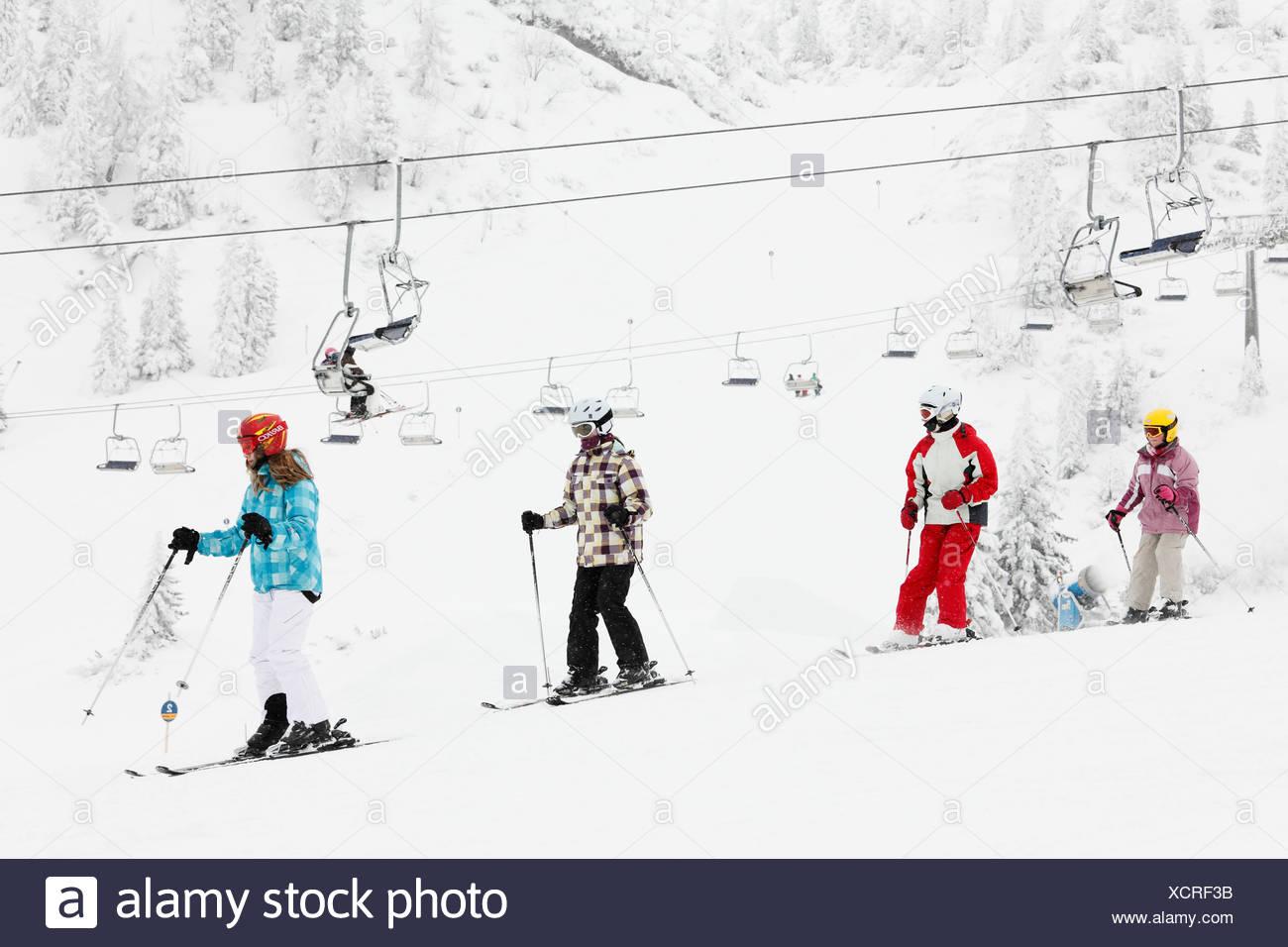Hochkar ski resort near Goestling an der Ybbs, Mostviertel, Must Quarter, Lower Austria, Austria, Europe Stock Photo