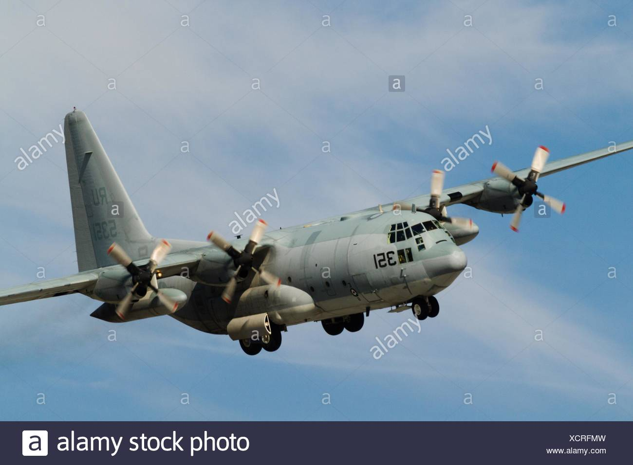 C-2A Greyhound is a high wing, twin-engine monoplane cargo aircraft, designed to land on aircraft carriers. - Stock Image