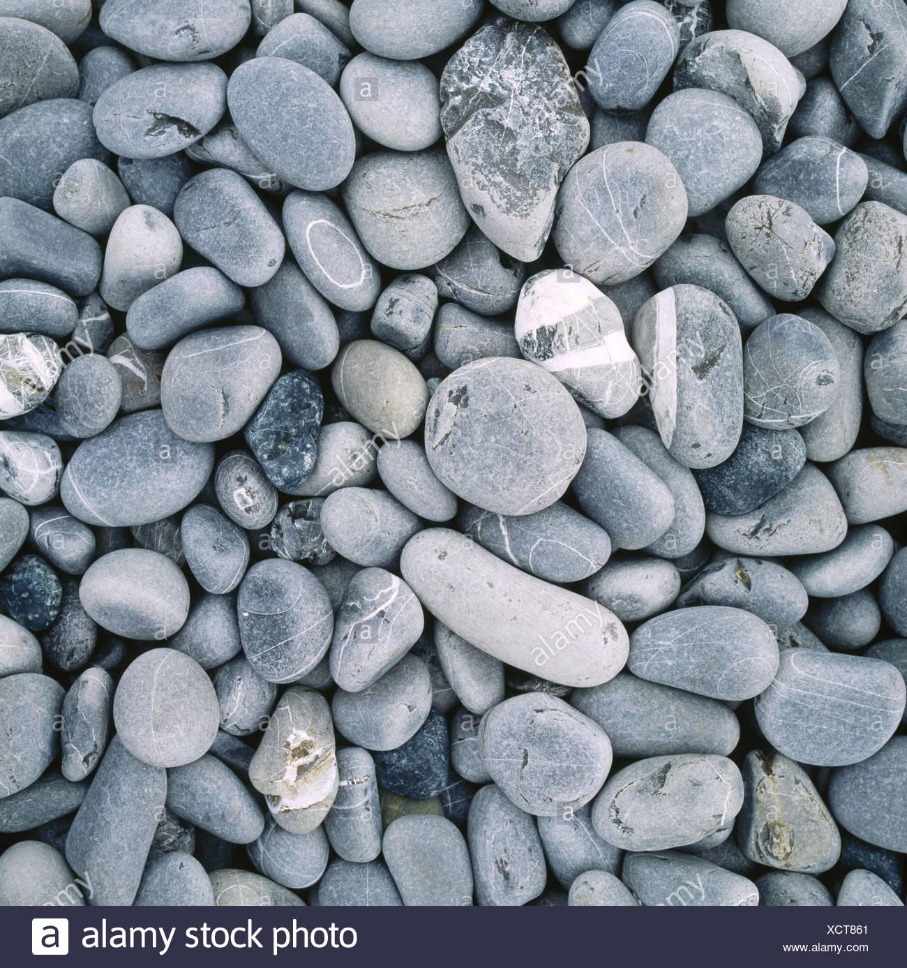 pattern figured gray pebble stones stones structure background Stock Photo