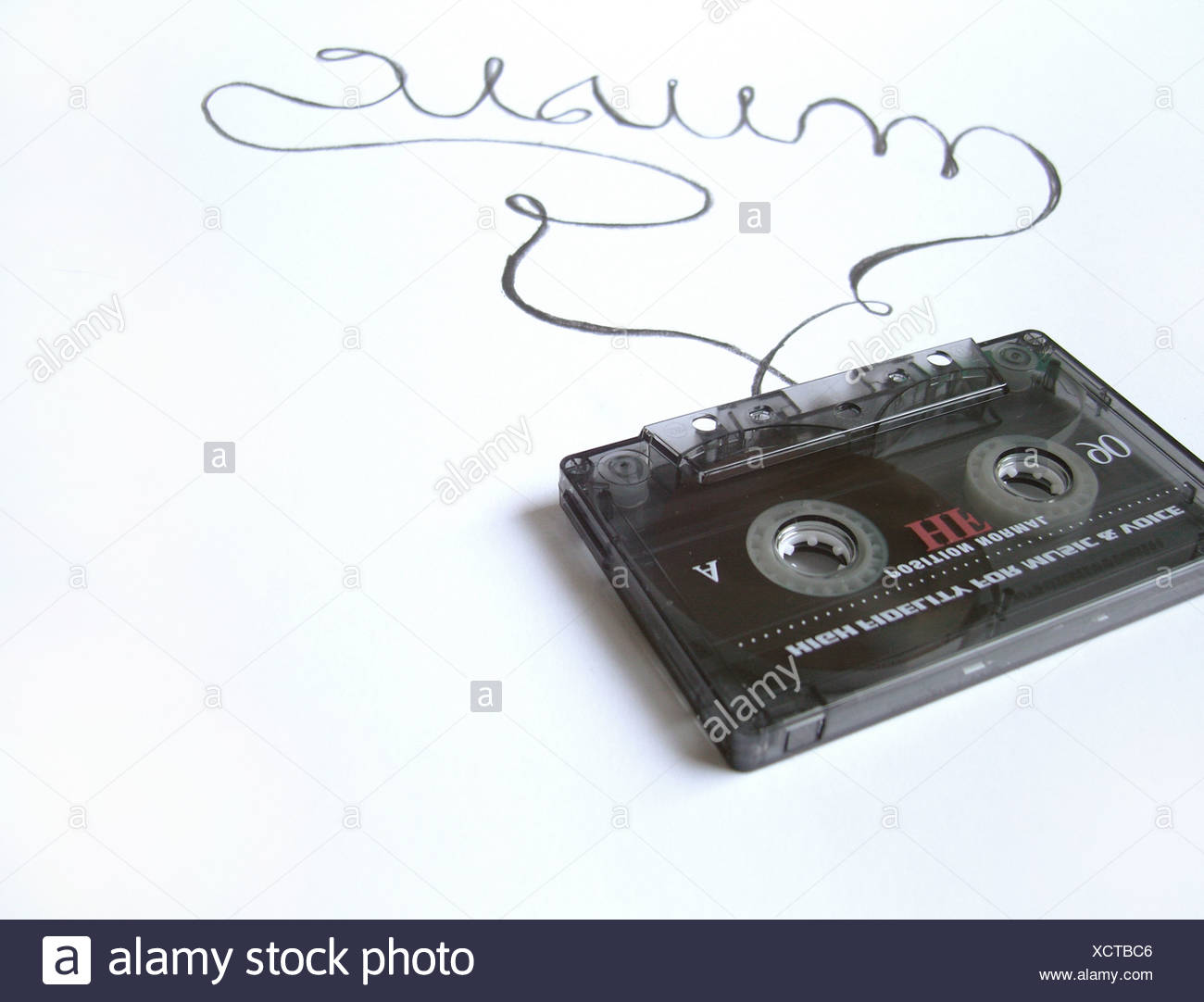 retro,music,tape - Stock Image