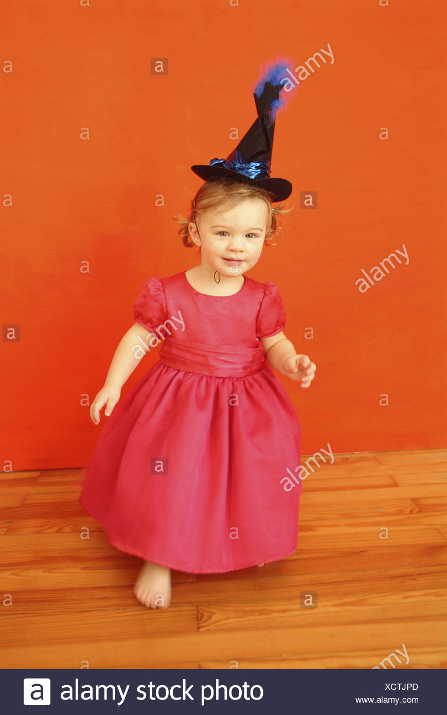 Fasching Child Girls Dress Pink Witch Hat People Toddler 2 4