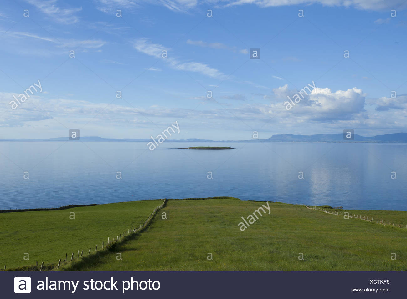 Irish summer scenery - Stock Image