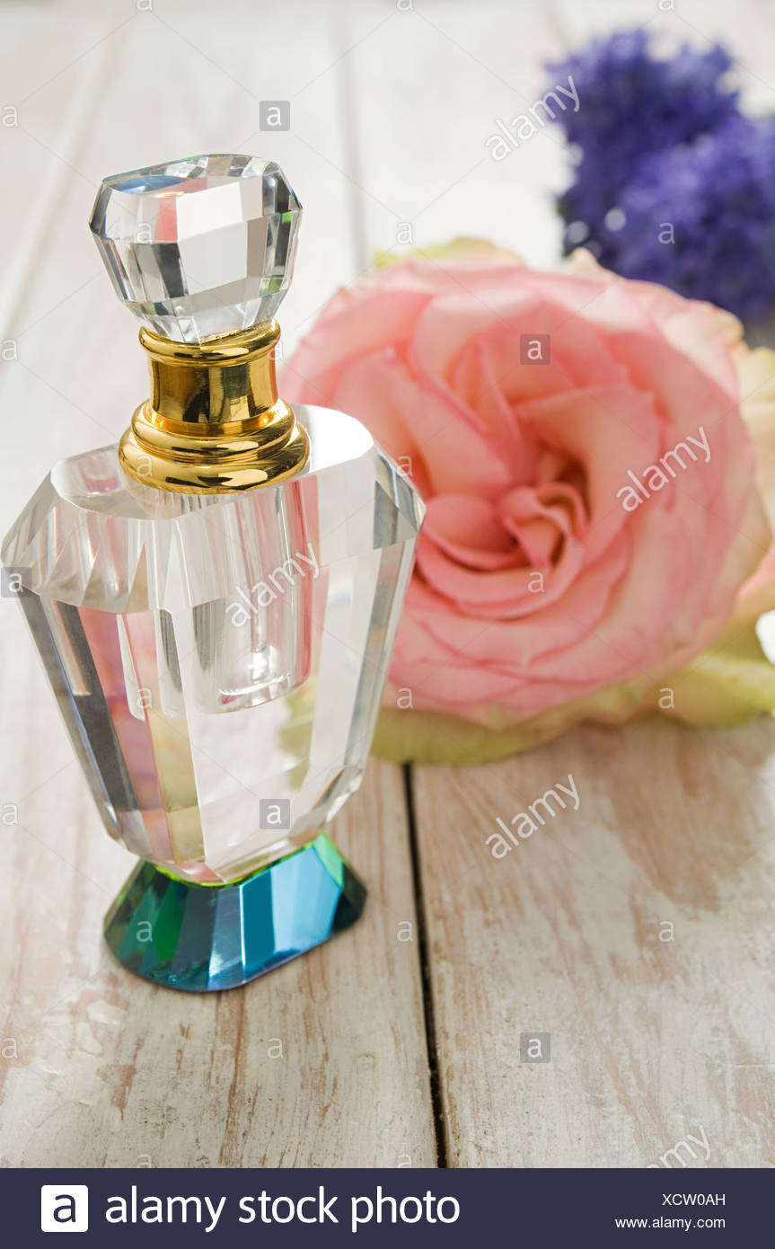 Flowers and perfume Stock Photo