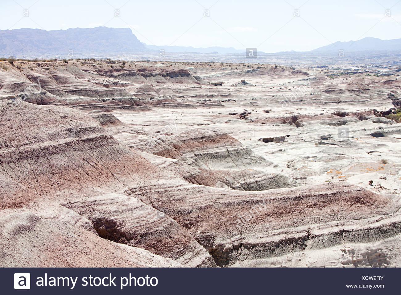Landscape of rock formations in san juan province of argentina - Stock Image