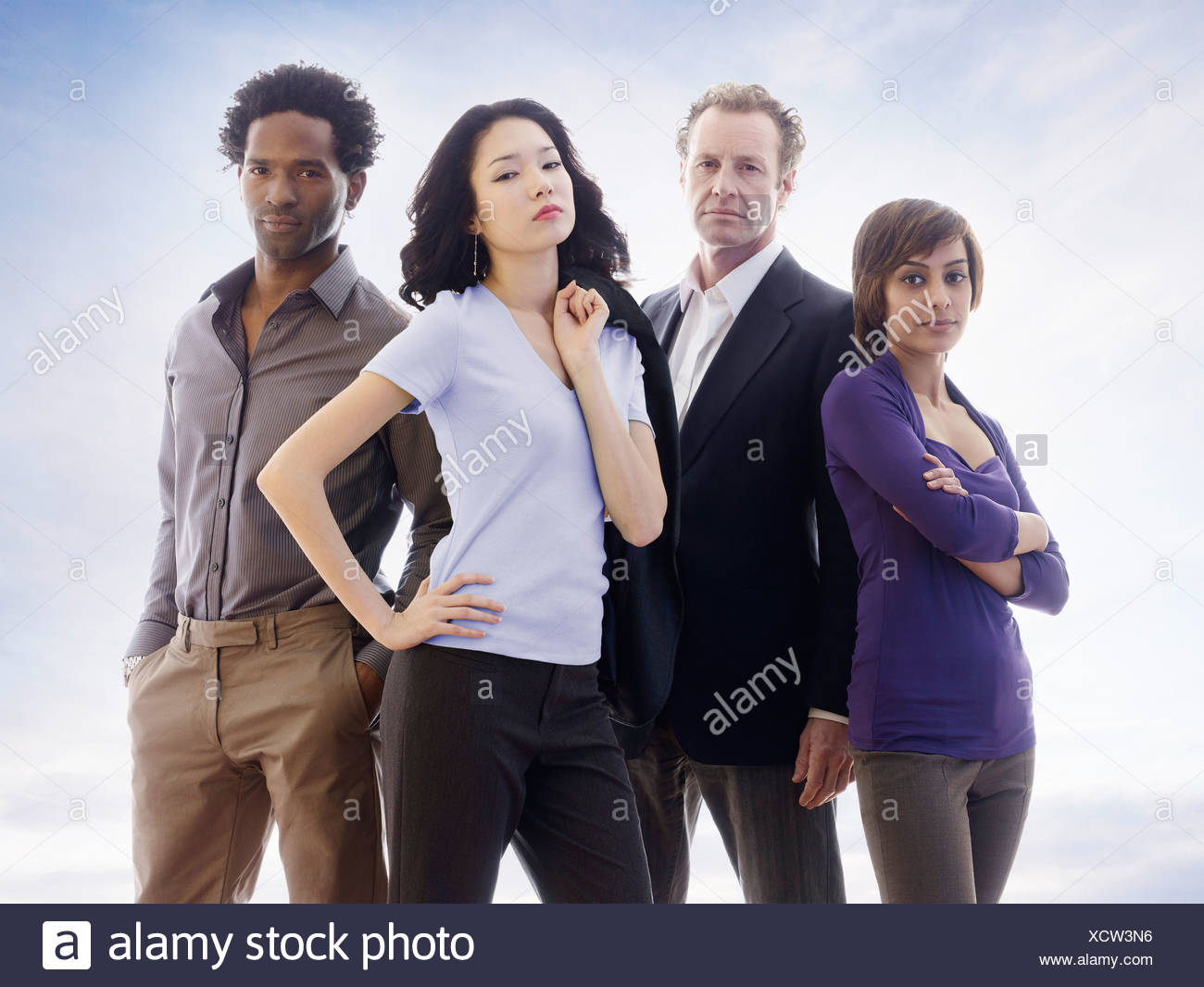 A powerful business portrait - Stock Image