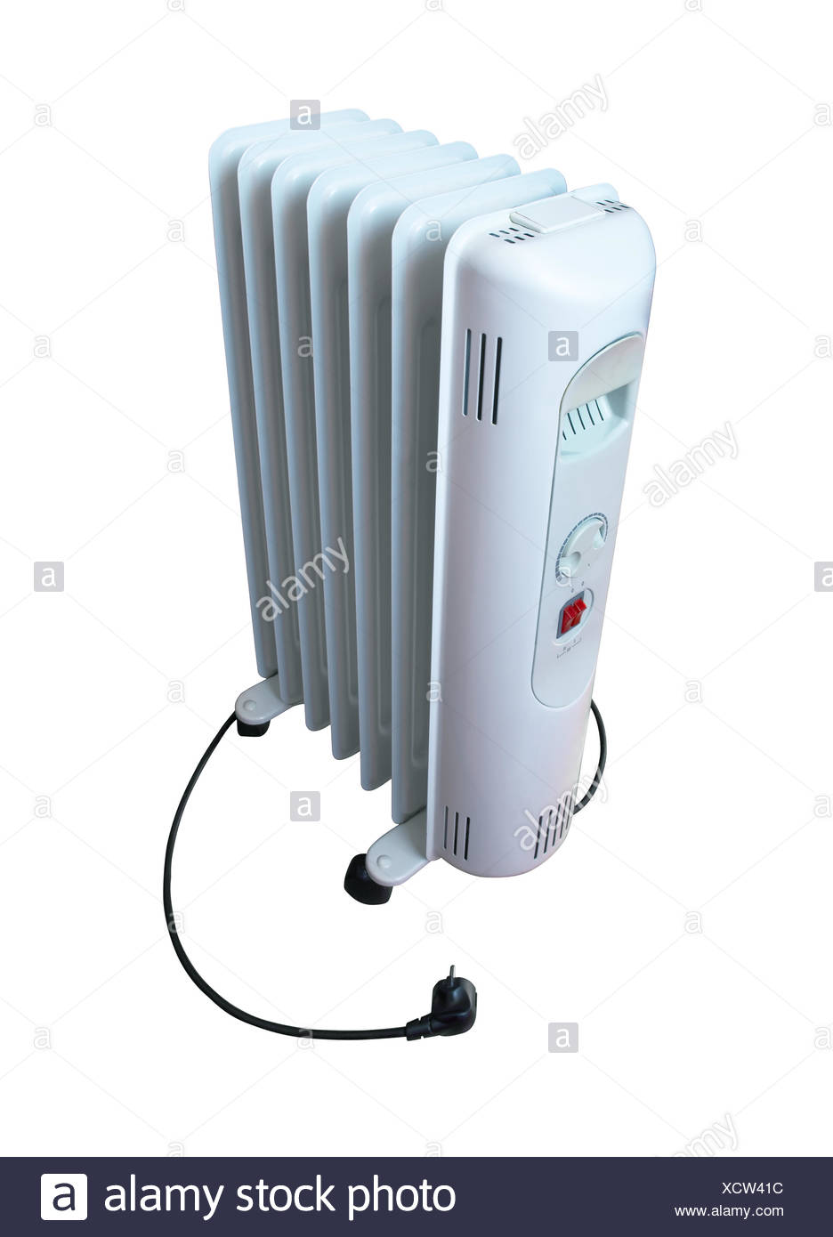 Electric oil heater - Stock Image