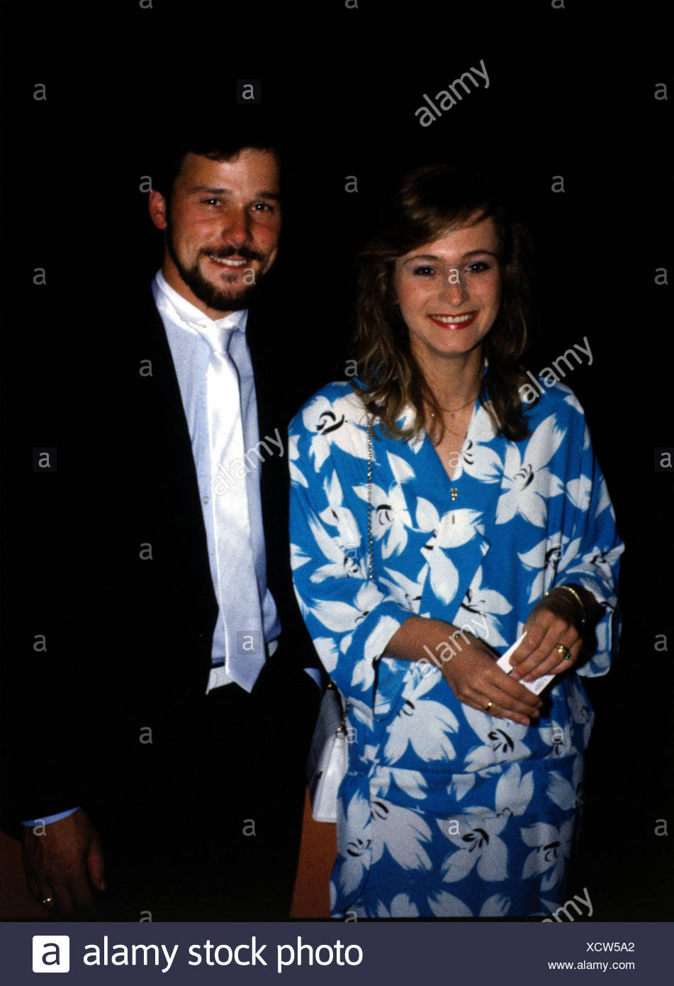 Nicole (Seibert), * 25.10.1964, German Schlager singer, half length, 1980s, - Stock Image