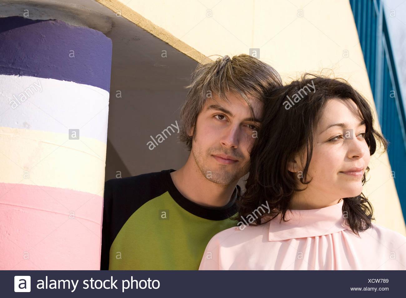 Portrait of a couple - Stock Image
