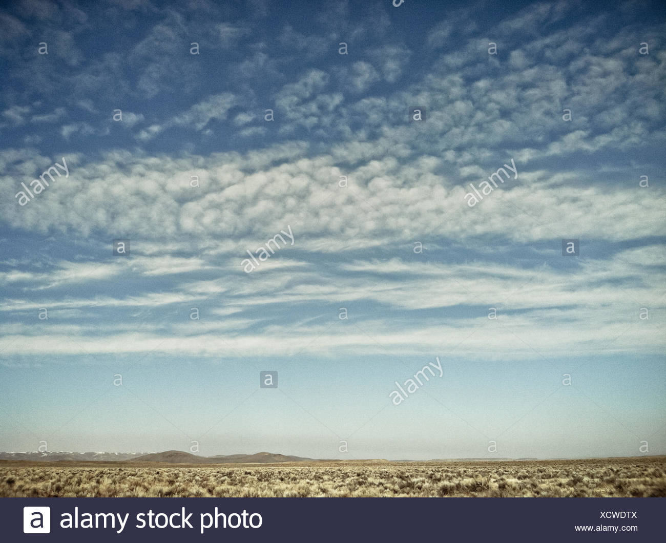 Clouds over desert - Stock Image