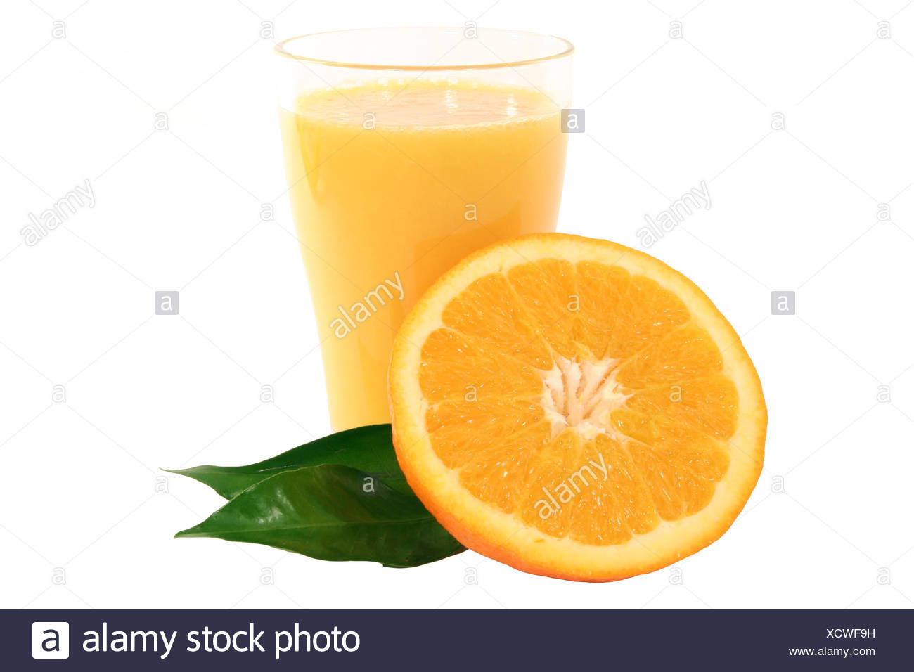 Orangensaft und Orange Stock Photo