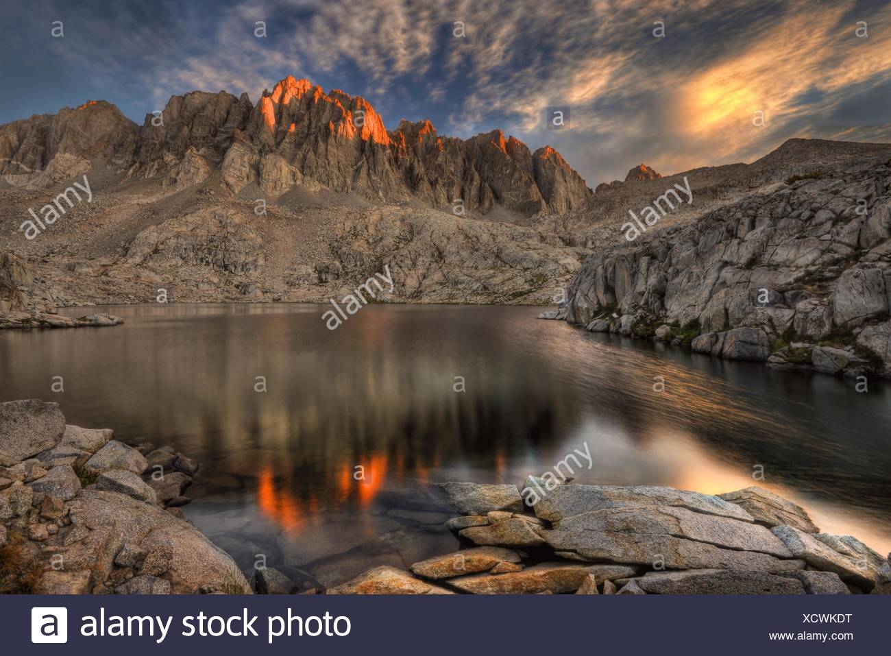 California, United States of America Last Light On The Palisades - Stock Image