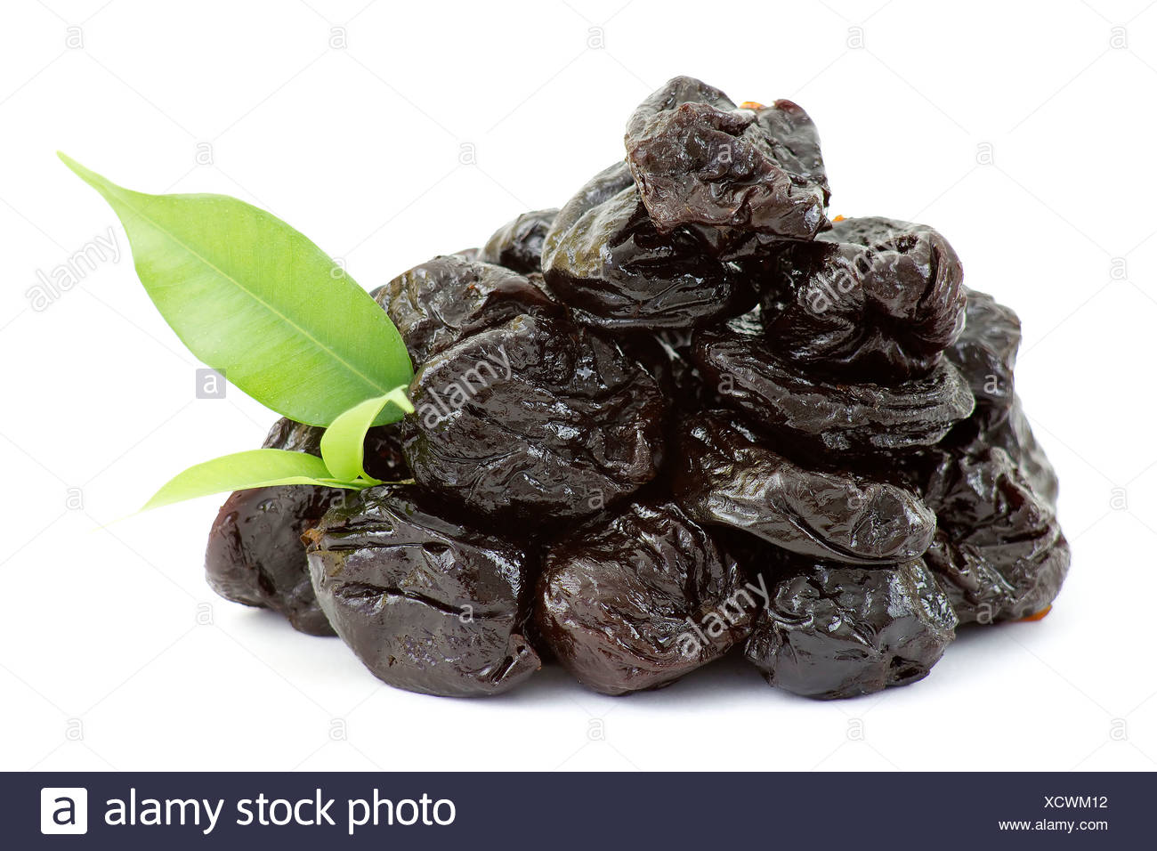 dried plums - Stock Image