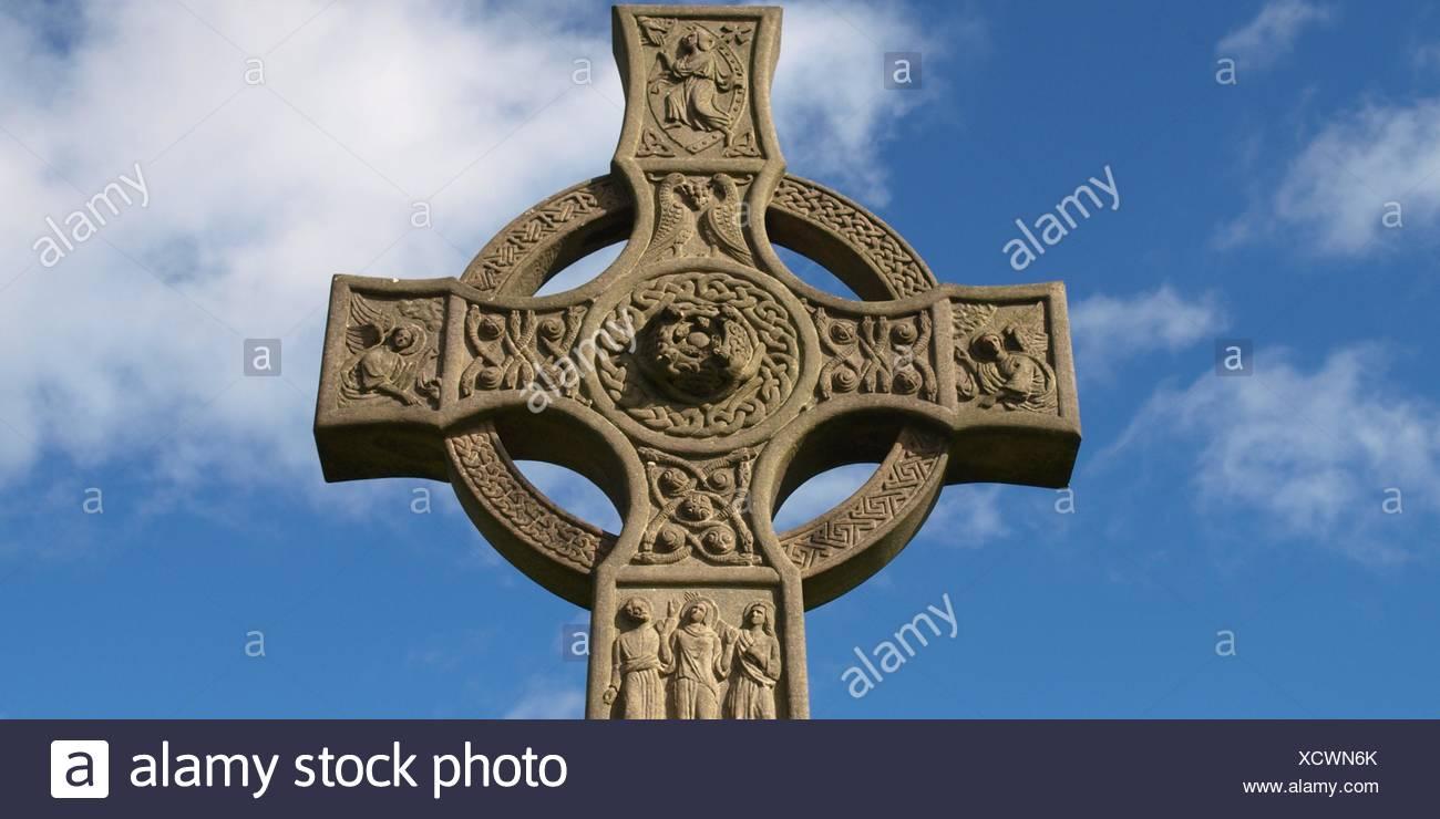 Garden Cemetery Scotland Scottish Glasgow Gothic Church Garden Stone Cross