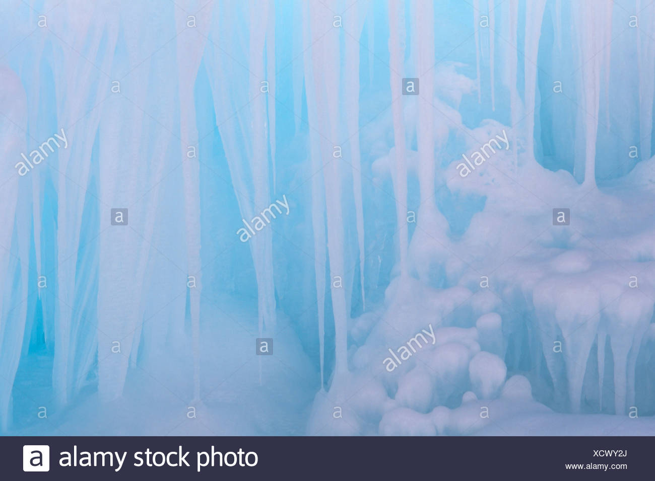 Ice formations, Vomper-Loch, Tirol, Austria, Europe - Stock Image