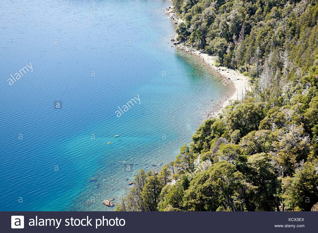High angle view of coast and water - Stock Image