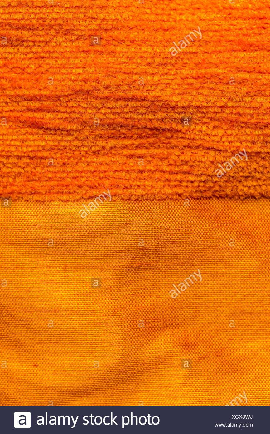 Silk and cotton striped drape - Stock Image