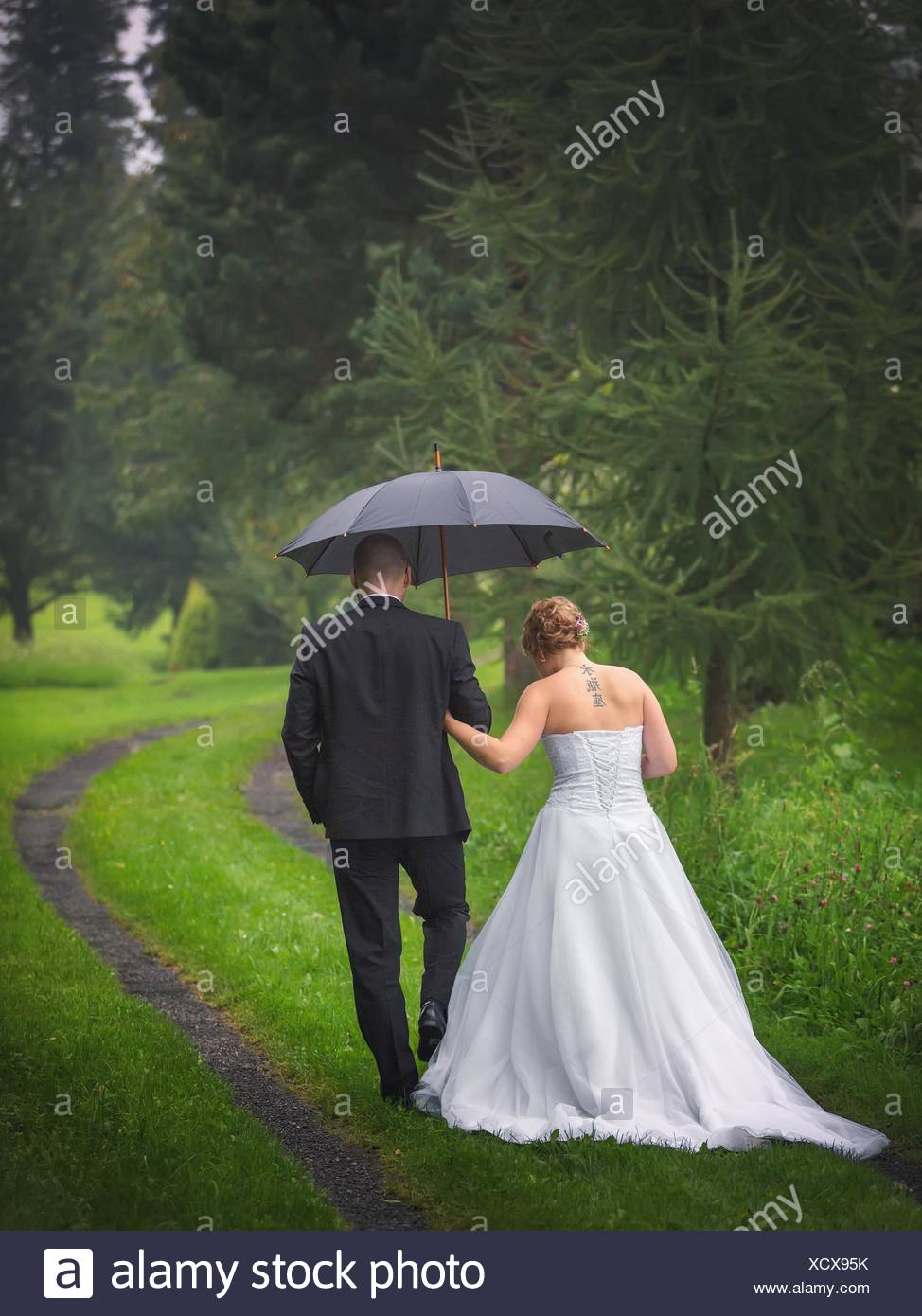 The newlyweds - Stock Image