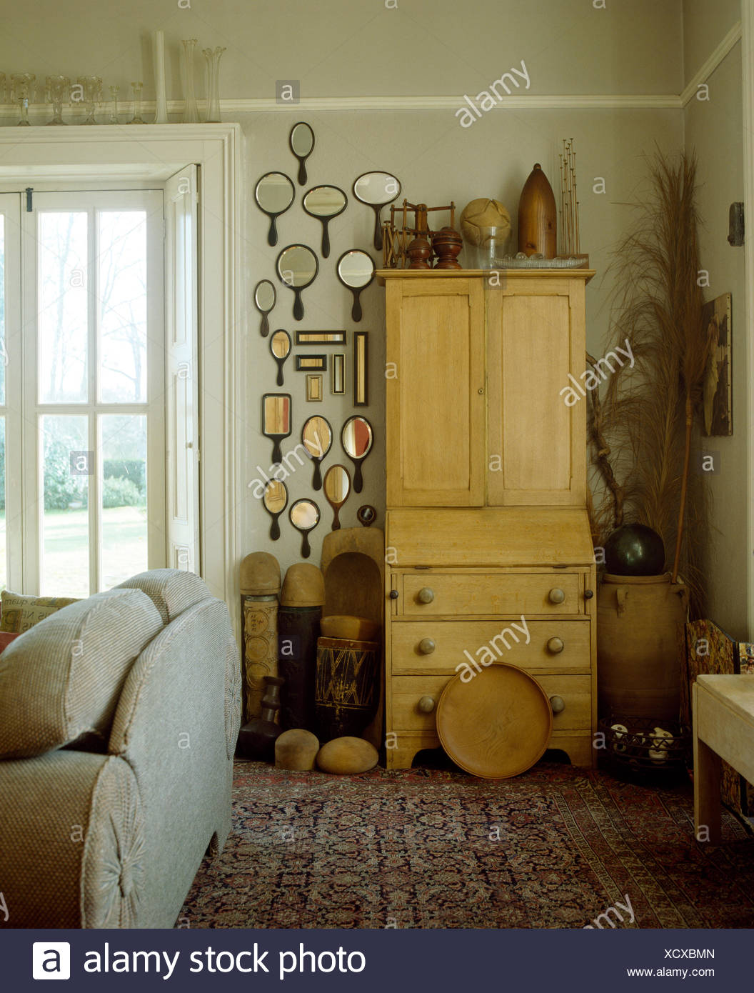 Superb Collection Of Vintage Hand Mirrors On Wall Beside Pine Download Free Architecture Designs Scobabritishbridgeorg