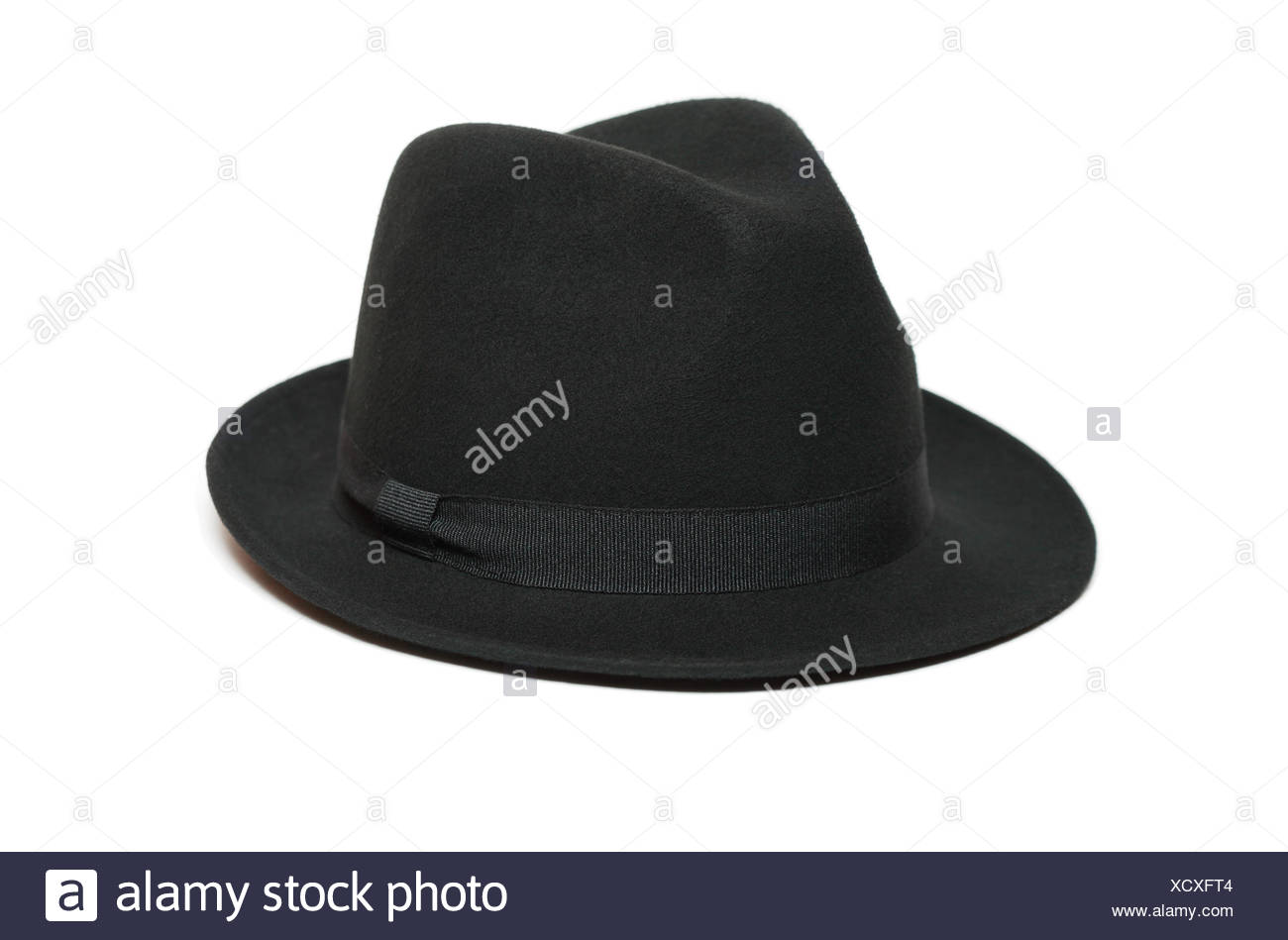 Black Felt Hat - Stock Image