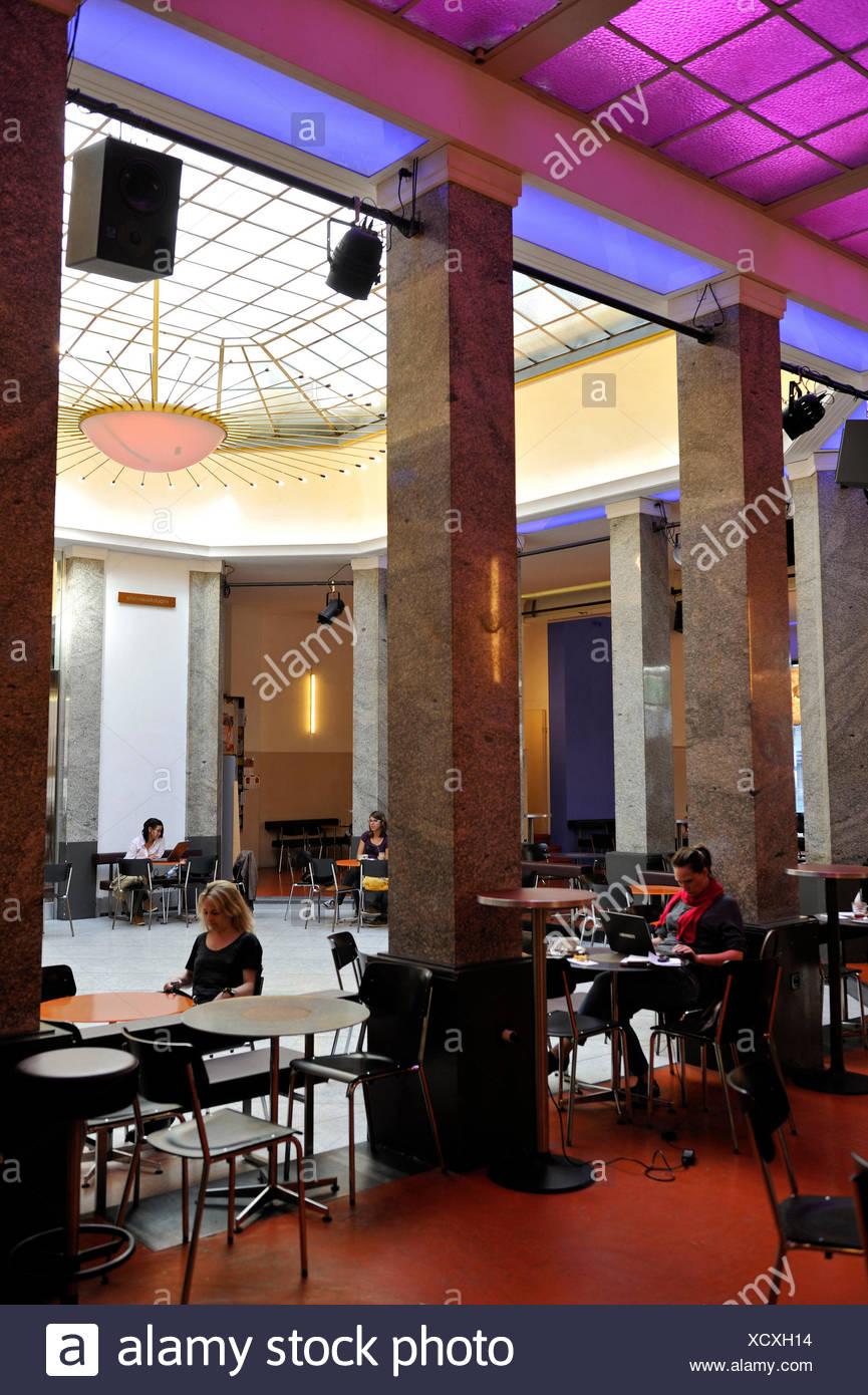 Switzerland, Basel, Gerbergasse 30, Unternehmen Mitte, the cafe - Stock Image