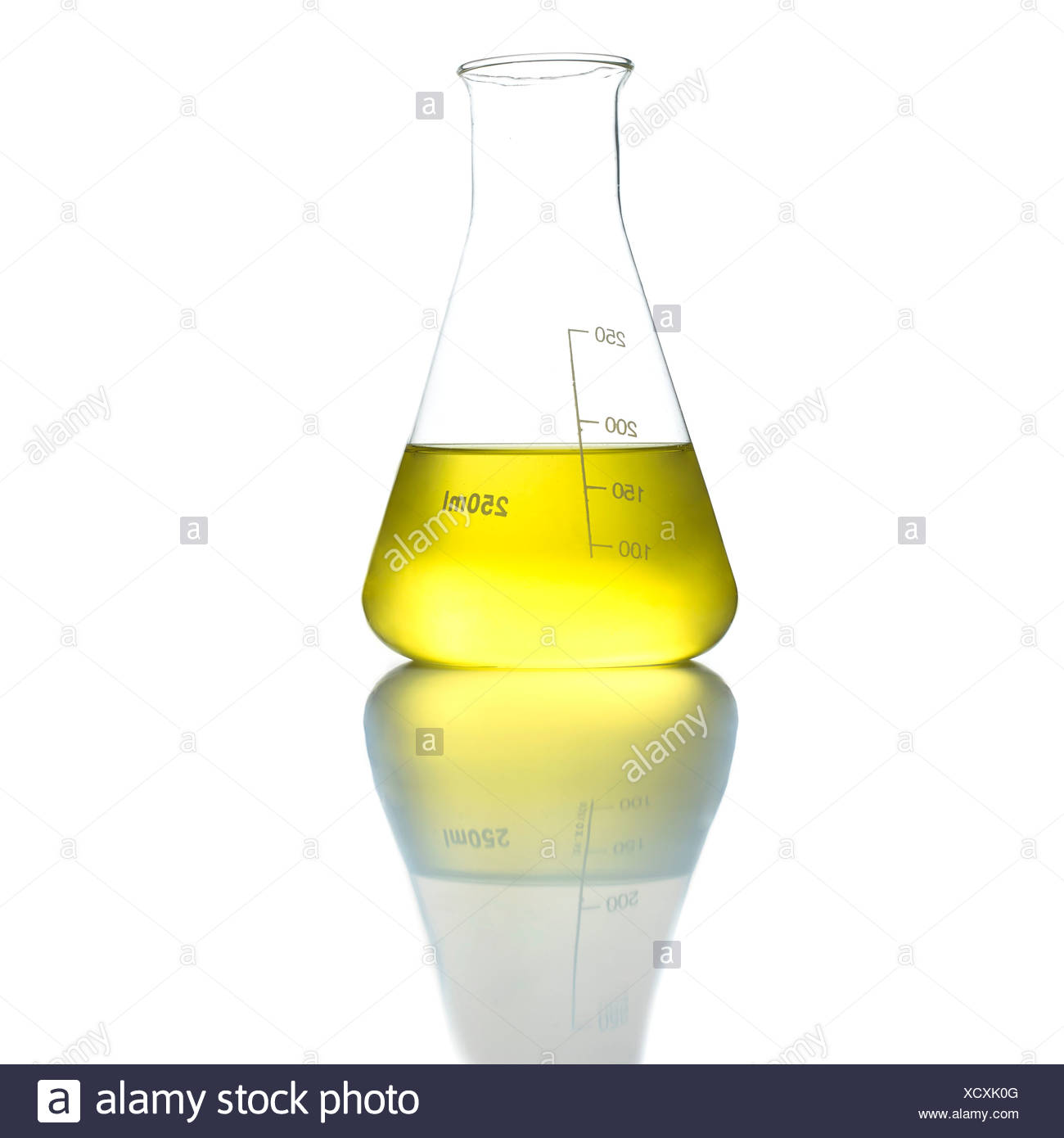 Conical flask - Stock Image