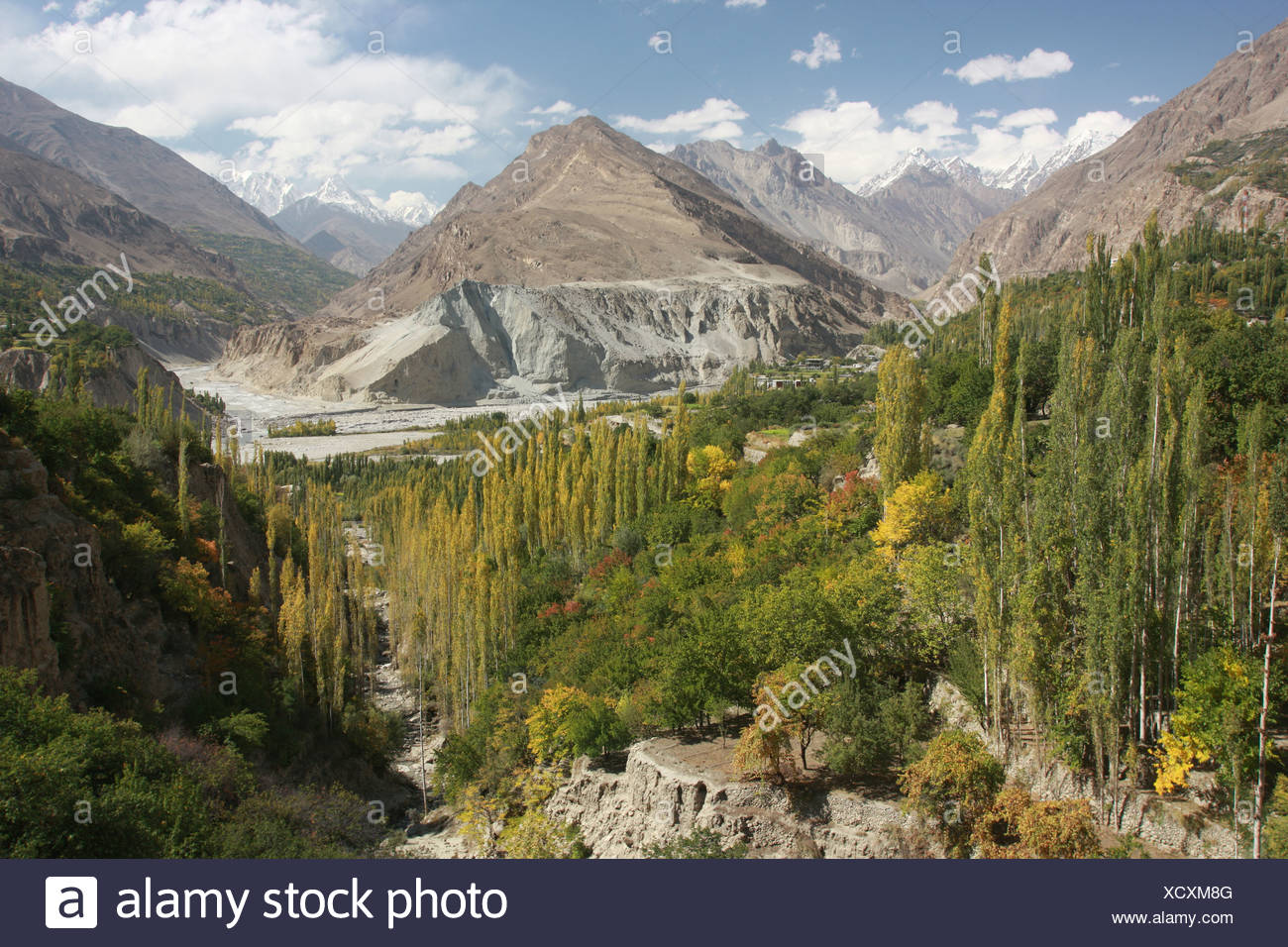 Hunza, Hunza-Valley, Karakoram, Karakoram-Highway, Pakistan, Asia, silk-road, Hindukush, Shangri-la, Hunzakut, Karimabad, Altit - Stock Image