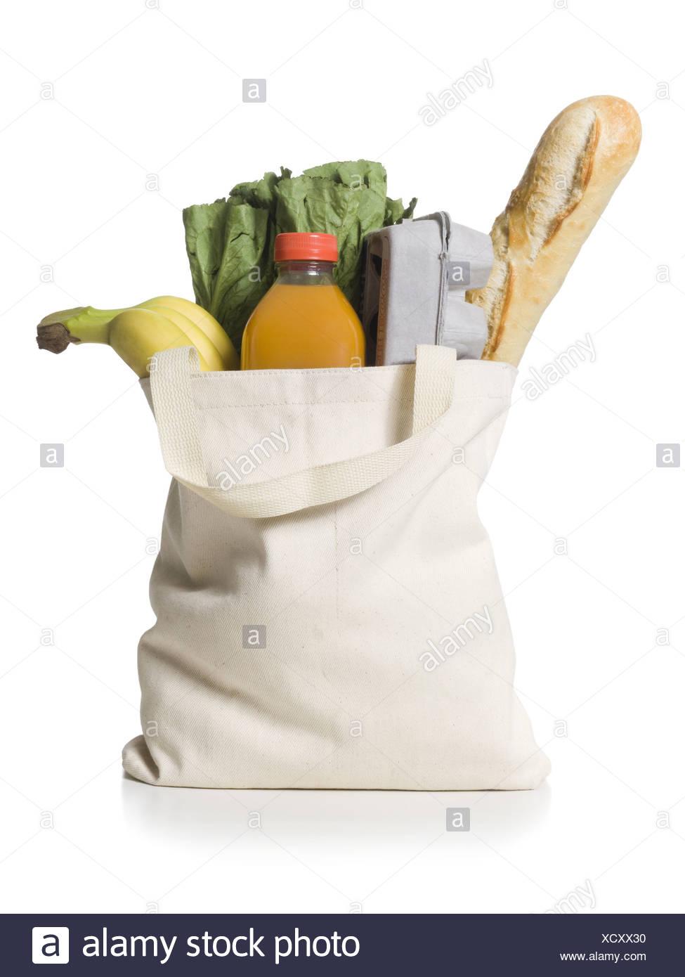 reusable grocery bag - Stock Image