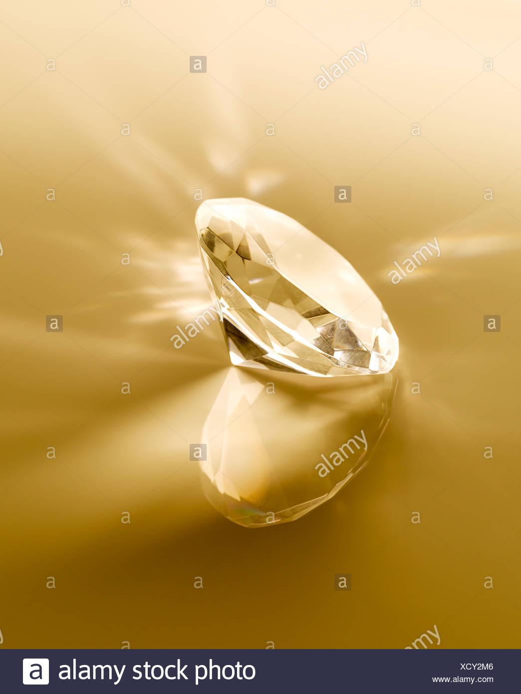 Close up of diamond - Stock Image